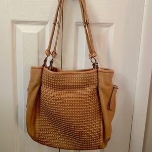 B. Makowsky textured tan shoulder bag